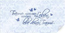Poster - Poster Träume nicht dein Leben... Blau -