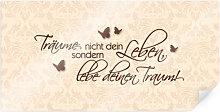 Poster - Poster Träume nicht dein Leben... Braun