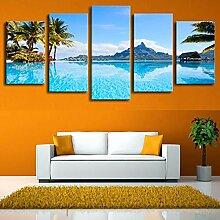 Poster Rahmen Wohnzimmer HD Gedruckt 5 Panel