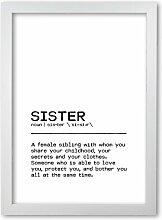 Poster Sister Share East Urban Home Format: Rahmen