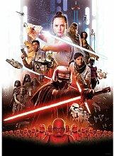 Poster Star Wars Filmposter mit Rey Komar Größe: