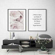 Poster Staubige Rose Blim and Blum Format: Kein