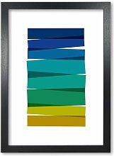 Poster Stripes I East Urban Home Format: Rahmen in