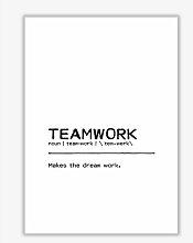 Poster Teamwork Dream East Urban Home Format: Kein