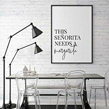 Poster This Senorita Needs A Margarita East Urban