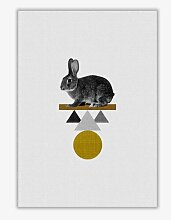 Poster Tribal Rabbit East Urban Home Format: Kein