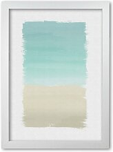 Poster Turquoise Abstract East Urban Home Format: