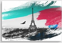Poster Vogel und Eiffelturm Paris 17 Stories