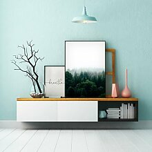 Poster Wald im Nebel East Urban Home Format: Kein