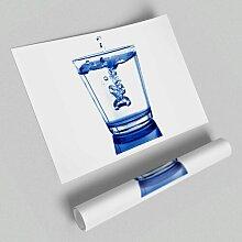 Poster Wasserglas East Urban Home