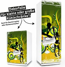 "Posterdeluxe 10950[C] Kühlschrank- / Spülmaschinen-Aufkleber ""Electric diso party!"""