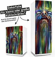 """Posterdeluxe 11520[C] Kühlschrank- / Spülmaschinen-Aufkleber """"Three Faces – Surrealismus"""""""