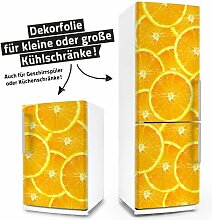 "posterdeluxe 12400[C] Kühlschrank- / Spülmaschinen-Aufkleber ""Orangen"" 65 cm x 140 cm"
