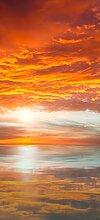 posterdepot Türtapete Türposter Abendrot in Reflexion über dem See - Größe 93 x 205 cm, 1 Stück, ktt0662