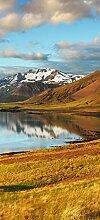 posterdepot Türtapete Türposter Bergpanorama mit Spiegelung im See - Größe 93 x 205 cm, 1 Stück, ktt0692