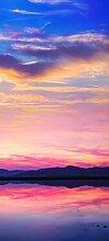 posterdepot Türtapete Türposter Farbenfroher Sonnenuntergang über dem Meer - Größe 93 x 205 cm, 1 Stück, ktt0606