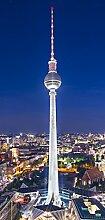 posterdepot Türtapete Türposter Fernsehturm Berlin bei Nacht - Größe 93 x 205 cm, 1 Stück, ktt0278