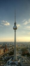 posterdepot Türtapete Türposter Fernsehturm Berlin mit Panoramablick über die Stadt - Größe 93 x 205 cm, 1 Stück, ktt0073