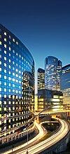 posterdepot Türtapete Türposter Wolkenkratzer bei Nacht mit hellen Lichtern - Größe 93 x 205 cm, 1 Stück, ktt0520