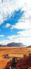 posterdepot Türtapete Türposter Wüstenlandschaft in Jordanien mit Bergen und blauem Himmel - Größe 93 x 205 cm, 1 Stück, ktt0638