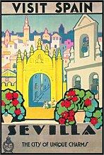 Posterlounge Acrylglasbild 100 x 150 cm: Besuchen