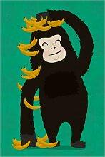 Posterlounge Acrylglasbild 100 x 150 cm: Gorilla
