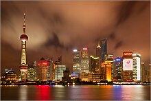 Posterlounge Acrylglasbild 100 x 70 cm: Shanghai