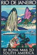Posterlounge Acrylglasbild 120 x 180 cm: Rio de