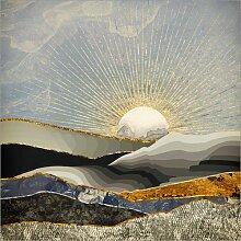 Posterlounge Acrylglasbild 20 x 20 cm: Morgensonne
