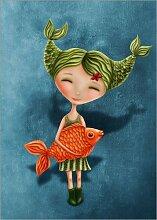 Posterlounge Acrylglasbild 30 x 40 cm: Fische