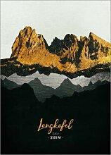Posterlounge Acrylglasbild 30 x 40 cm: Langkofel