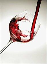 Posterlounge Acrylglasbild 30 x 40 cm: Rotwein im