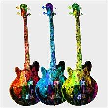 Posterlounge Acrylglasbild 40 x 40 cm: Gitarren