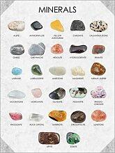 Posterlounge Acrylglasbild 50 x 70 cm: Mineralien