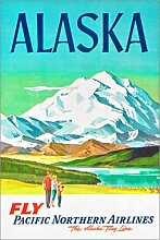 Posterlounge Acrylglasbild 60 x 90 cm: Alaska