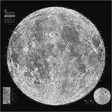 Posterlounge Acrylglasbild 70 x 70 cm: Mondkarte,