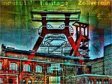 Posterlounge Acrylglasbild 90 x 70 cm: Zollverein