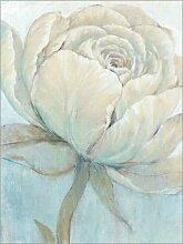 Posterlounge Holzbild 90 x 120 cm: Englische Rose