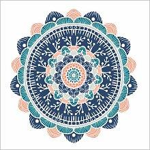 Posterlounge Leinwandbild 40 x 40 cm: Mandala