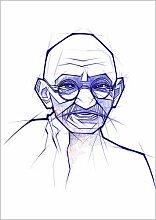 Posterlounge Leinwandbild 50 x 70 cm: Mahatma