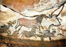 Posterlounge Leinwandbild 70 x 50 cm: Höhle von