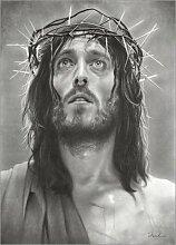 Posterlounge Leinwandbild 70 x 90 cm: Jesus von