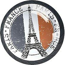 Poststempel Eiffelturm Kristallglas Kommode