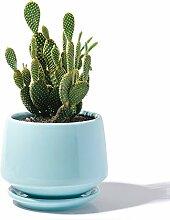 Potey Keramik-Blumentopf, Blumenkübel, 15 cm, mit