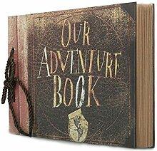 Potok Scrapbook 12x9 Fotoalbum, schwarze Seiten,