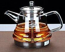 POTOLL Teekanne Dampfgarer Teekocher Glas Dampf
