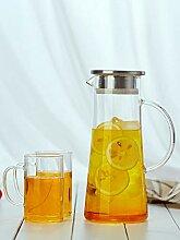 POTOLL Teekanne Glas hochtemperaturbeständiger,
