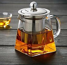 POTOLL Teekanne Glas Tee-Set Filter quadratische