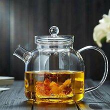 POTOLL Teekanne Glas Teekanne hitzebeständiges