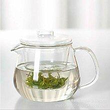 POTOLL Teekanne mit Sieb Glas dreiteilige Tasse